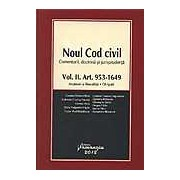 Noul Cod civil - Comentarii doctrina si jurisprudenta (Vol. II. Art. 953 - 1649)