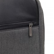 Knomo Southampton Laptop Backpack - луксозна раница за MacBook Pro 15 и преносими компютри до 15.6 инча (сив)