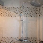 Mozaic Marmura Alba si Onix Mix Polisata 2.3 x 2.3cm