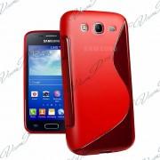 Samsung Galaxy Trend Lite S7390/ Galaxy Fresh Duos S7392: Housse Etui Pochette Coque S Silicone Gel Rouge