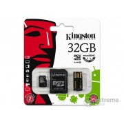Card memorie Kingston microSDHC 32GB Class4 + adaptor SD + cititor microSD