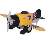 Kinsmart Die-Cast Metal Classic Wing Plane (Yellow)