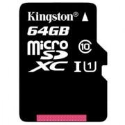 Kingston 64GB MicroSDXC Class 10 UHS-I 80MB/s Read Speed with Adaptor