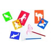 Small Foot Company - 7498 - Kit De Loisirs Créatifs - Lot De Pochoirs