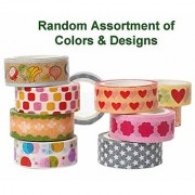 Shizaru Designs Exclusive. 10 Rolls of Colorful Washi Tape Approximately 5 M Per Roll.