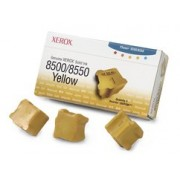 108R00671 Brand New Genuine Retail Original OEM ( FREE GROUND SHIPPING ! ) XEROX - COLOR PRINTER SUPPLIES 3 STICKS YELLOW SOLID INK FOR