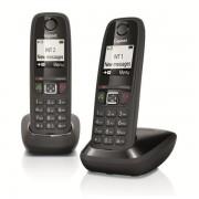 Téléphone résidentiel sans répondeur GIGASET - AS405DUONOIR
