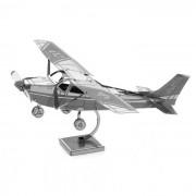 plastico libre del modelo del juguete del rompecabezas 3D DIY Cessna ensamblado 172 - plata