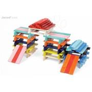 Fa építőkockák Kubix - 100 Planks építőkészlet 2 éves kortól 100 drb