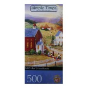 """Simple Times """" Little Red Schoolhouse"""" Art Of Mary Ann Vassey 500 Pcs By Master Pieces"""
