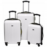 Witte reiskoffer op wieltjes 56 cm