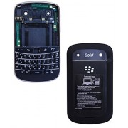 YGS High Quality Full Body Housing Panel Faceplate For BlackBerry Bold Touch 9900 -Black