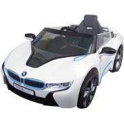 Accu voertuig BMW i8 - MP3 - Radio- Afstandsbediening - 6V motor - Wit