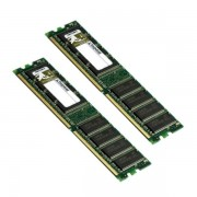 Lot 2 Ram Barrette Mémoire Kingston 512Mo DDR-266 PC2100 kvr266x64c25/512