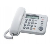 Telefon analogic PANASONIC KX-TS580FXW, alb, cu fir