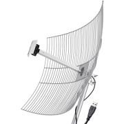 Antena Internet USB PTP Parabólica Grade Wifi Wireless 25 dBi USB-2510 Anatel 2.4Ghz Aquario