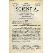 Scientia, Year Xix, Vol. Xxxvii, N° Clviii-6, Serie Ii, 1925, Rivista Internazionale Di Sintesi Scientifica, Revue Internationale De Synthese Scientifique, International Review Of ...