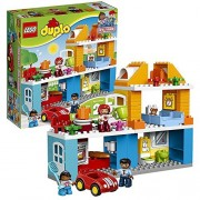 Lego Year 2017 Duplo My Town Series Set #10835 - FAMILY HOUSE with Car Plus Mom