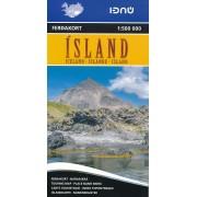 Wegenkaart - landkaart Touring map IJsland - Iceland | Ferdakort