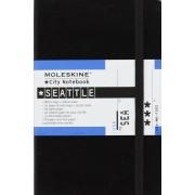 Moleskine City Notebook SEATTLE Couverture rigide noire 9 x 14 cm