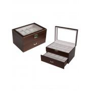 Rothenschild Uhrenbox RS-230-20WN für 20 Uhren walnut