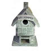 Vogelhäuschen Welcome im Nostalgie-Look