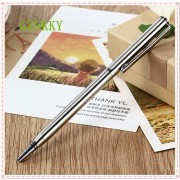 1Pcs/Lot Stainless steel metal ball-point pen ballpoint pens business advertisement pen free shipping