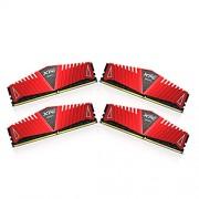 ADATA XPG Z1 64 GB (16 GB x 4) DDR4 2400 MHz CL16 moduli di memoria, colore: rosso