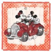Disney, Sciarpa Quadrata Mickey&Minnie, Donna, Multicolore