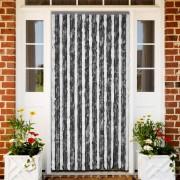 vidaXL Ресни за врата против насекоми, сиво и бяло, 90 х 220 см.
