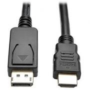 Tripp Lite DisplayPort to HD Active Adapter Cable DP with Latches to HDMI (M/M) UHD 4K x 2K/1080p 6 ft. (P582-006-V2-ACT)