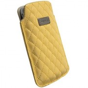 Krusell Avenyn Large Mobile Pocket Pouch for iPhone 4/4S and other Smartphones with 3.5/4.0 inch Screen - Yellow