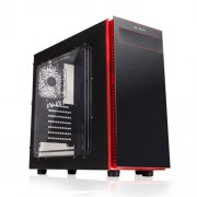 Caja Sobremesa In Win Gaming 703 Black / red. ATX , USB 3.0, Sin Fuente