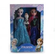 Lot 2 Peluche 30cm Frozen Elsa Anna Olaf En Plastique