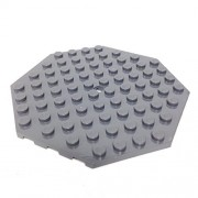 """Lego Parts: Plate, Modified 10 x 10 Octagonal with Hole (DBGray) by """"Parts/Elements - Plates, Modified"""""""