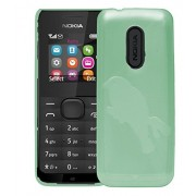 Nokia 105 Case,Green Soft, Lightweight,Shock Absorbing Tpu Back Case Cover For Nokia 105