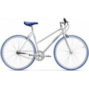 Bicicleta City Pegas Clasic F 3v Alb