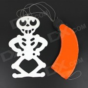 Halloween Paper Skeleton Parachute Hanging Wall / Ceiling Decoration - Orange + Black + White