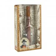 Churchill's Cigar and Whisky Bottle