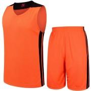 Баскетболен екип потник с шорти - неоново оранжев с черно