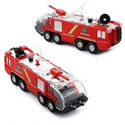 Pumper Fire Truck Newnet Fire Squad Water Cannon Truck Bump and Go Kids Toy Action Engine with Lights and Sound
