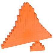 Premium Big Briks Orange Basic Builder Set #1 - 84 Pack - (Big LEGO DUPLO Compatible) - Large Pegs