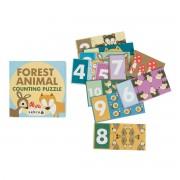 Sebra - Puzzle Forest mit Zahlen 1-10 (20-teilig)