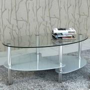 vidaXL Konferenční stolek s exkluzivním tříúrovňovým designem, bílý