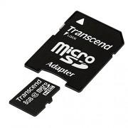 Transcend TS8GUSDHC10 Scheda di Memoria MicroSDHC da 8 GB con Adattatore, Classe 10