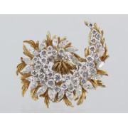 Zlatá brož s diamanty 8,25 ct