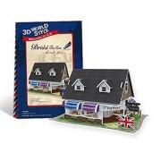 Cubicfun Cubic Fun 3d Puzzle Model 45pcs British Flavor Bridal Tea House