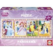 Educa - 13500 pièces - - Puzzle Carton Wd 100 pièces - Panorama Princess