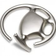Elegáns kormánykerék alakú kulcstartó