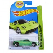 Hot Wheels 2014 Hw Workshop All Stars Green Pagani Huayra 198/250 Code Car